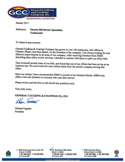 General Caulking & Coatings Company letter - PDF